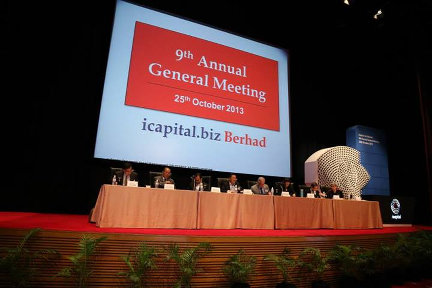 "The AGM of icapital.biz Berhad, where like-minded share owners congregate. Do you know why we call our shareholders as ""share owners"" ?"